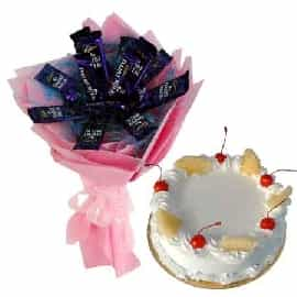 Cake N Chocolates Bouquet