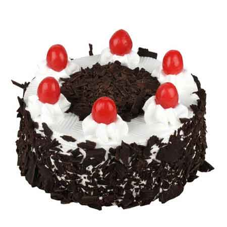 2 Kg Fresh Black Forest Delight Cake Midnight Delivery