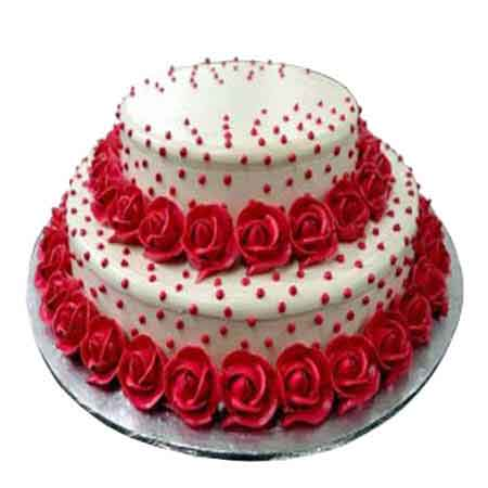 Order Vanilla Rose Party Cake Online