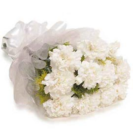 buy 10 White carnations special Bunch Urgent Delivery