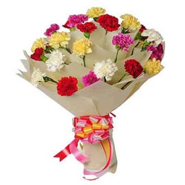 Send 18 mix carnations Bunch morning Delivery