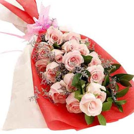 Send 20 Pink roses flat Bunch 24 hrs Delivery