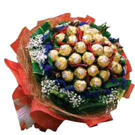 buy & Gift Online 24 pieces Ferrero Rocher Bouquet Delivery