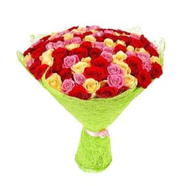 buy 50 mix roses paper Bunch Midnight Delivery