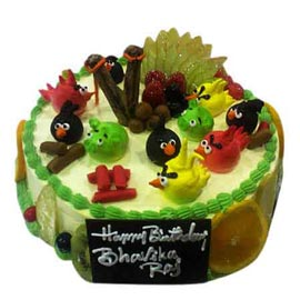 buy Online angry bird Fruit Cake Delivery