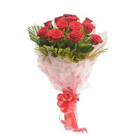Send 12 Red roses Bunch Urgent Same Day Delivery