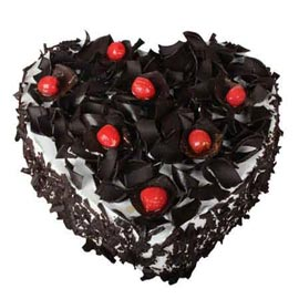 gift 1 Kg Black Forest Heart Cake Online Delivery