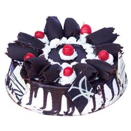 1 Kg Black Forest marble Midnight Cake Delivery
