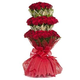 buy 70 Red roses jute packing Bunch Urgent Delivery