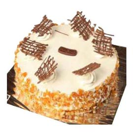 Send Delivery of Half Kg butterscotch crunch Cake