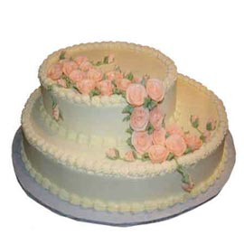 Send Delivery of 2.5 Kg two tiers celebrations Cake available in all flavors