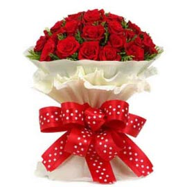 buy 50 Red roses White paper Bunch Same Day Delivery