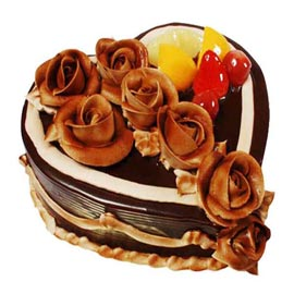 order 1 Kg Chocolate desire Heart Cake Online Delivery