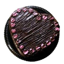 24 hrs Online Choco rich Heart Cake Delivery