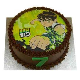 urgent Delivery of 1 Kg Chocolate ben 10 Cake