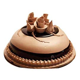Send Online 1 Kg Chocolate dome Cake