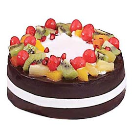 same day Online Chocolate Fruit blast Cake Delivery