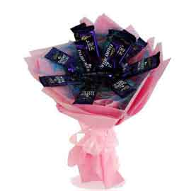 same day Online Dairy Milk Chocolate Bouquet Delivery