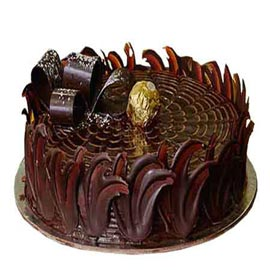 1 Kg dark Truffle Chocolate Midnight Cake Delivery
