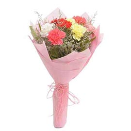 Send 10 mix carnations designer Bunch Same Day Delivery
