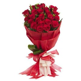 Send 15 Red roses designer Bunch Same Day Delivery