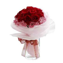 Send roses & carnations Bunch 24 hrs Delivery