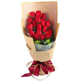 buy 20 Red roses brown paper Bunch Same Day Delivery
