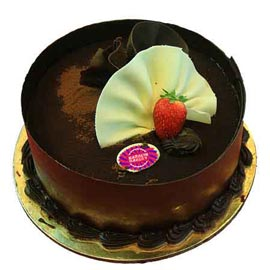 xpress Delivery of 1 Kg German Truffle Chocolate Cake