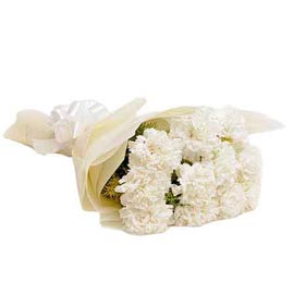 buy 10 White carnations Bunch Same Day Delivery