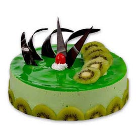 Send 1 Kg kiwi Cheese Cake from local Bakery
