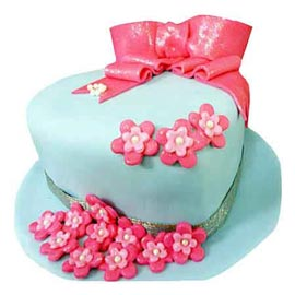 Send Delivery of 2 Kg lady hat sugar craft Cake available in all flavors