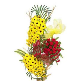 Send 50 gerberas n 30 carnations tall Basket Urgent Delivery