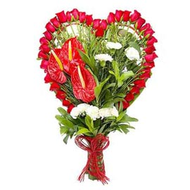 Send Anthurium n mix flowers cane Basket Urgent Delivery