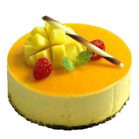 24 hrs Delivery of 2 Kg mango Cheese Cake