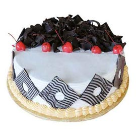 xpress Delivery of 1 Kg mouth watering Black Forest Cake