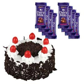 buy Online cadbury Chocolates n Black Forest Cake