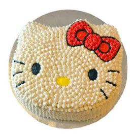 1.5 Kg Pineapple kitty Cake Midnight Delivery