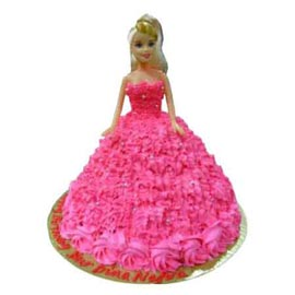 Send Online 2 Kg Pink barbie Cake for her available in all flavors