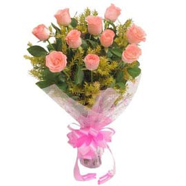 Send 10 Pink roses Bunch Xpress Delivery