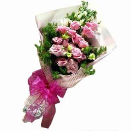 buy 15 Pink roses one sided Bunch Urgent Delivery