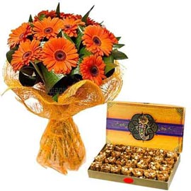 urgent Online Pinni n Orange gerberas Bunch
