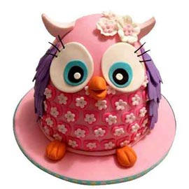 24 hrs Delivery of 2 Kg pretty owl Cake for him available in all flavors