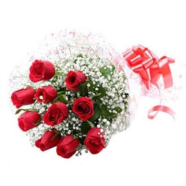 Send 10 Red roses Bunch Urgent Delivery
