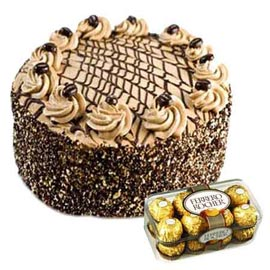 gift Online Ferrero Rocher Chocolates n Coffee Cake