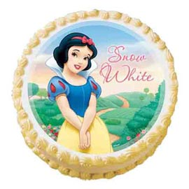 1.5 Kg snow White Photo Cake Midnight Delivery available in all flavors