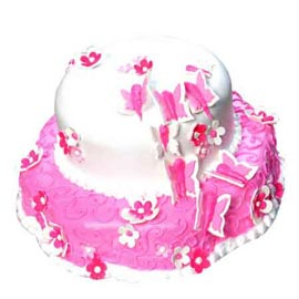 urgent Delivery of 2.5 Kg Strawberry butterfly Cake