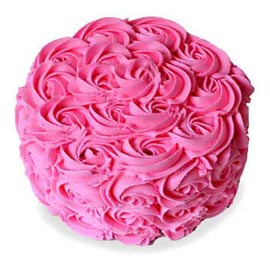 1 Kg Strawberry rose Cake FREE home Delivery