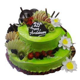 online Delivery of 2.5 Kg Vanilla Fruit Party Cake