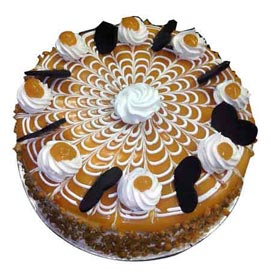 buy 1 Kg yummy Butter Scotch Midnight Cake Delivery