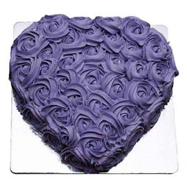 buy Online blue berry Heart Cake Delivery